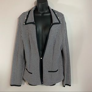 Due per Due Vintage Pearl Knit Jacket, Size XL